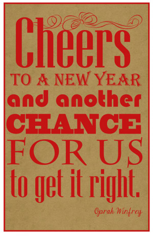 Free New Year Quote Poster Printable