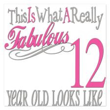 Fabulous 12yearold.png 5.25 x 5.25 Flat Cards for