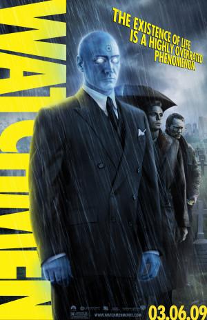 six Watchmen character banners featuring Rorschach, Dr. Manhattan ...