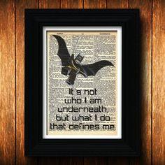 poster - Dictionary art print, Batman quote, Marvel Comics, Super hero ...