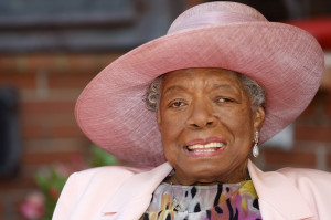 Maya Angelou, African-American author and poet