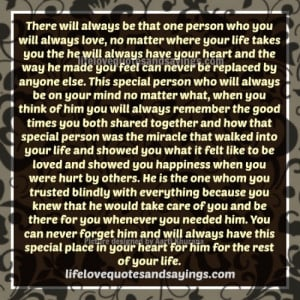 Special people in your life essay