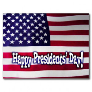 Happy Presidents' Day American Flag Postcard