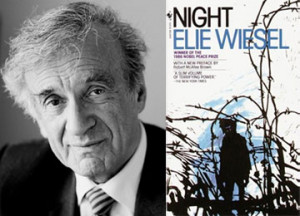 Elie Wiesel the author and the book jacket