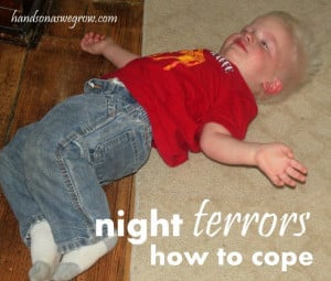 Learning to cope with night terrors, a sleep disorder. Anyone deal ...