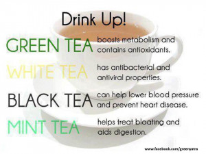 ... green tea,white tea,black tea,mint tea,health tips,healthy food,drink