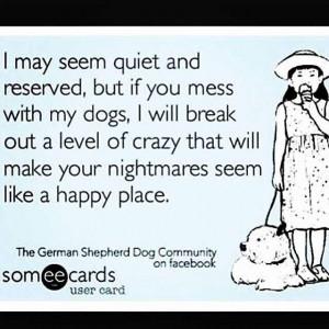 Crazy dog lady. Funny eCard.