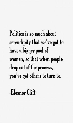 Eleanor Clift Quotes amp Sayings