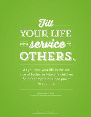 Elder Richard G. Scott talks about service and spiritual protection.