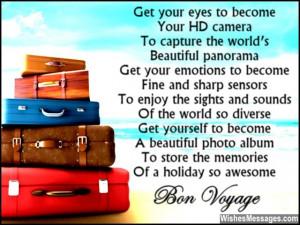 Bon Voyage Quotes Funny Beautiful bon voyage poem to