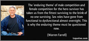 theme' of male competition and female competition for the hero ...