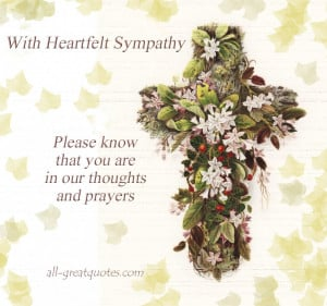 Posted Sympathy Card
