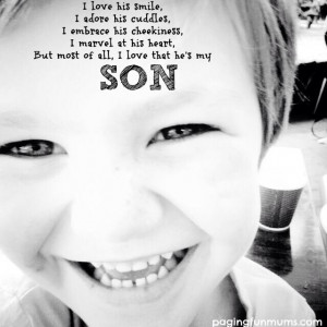 love this little boy with all of my heart!