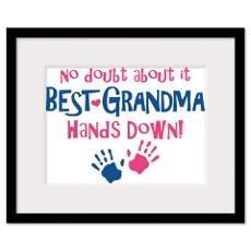 Baby Handprint Framed Prints