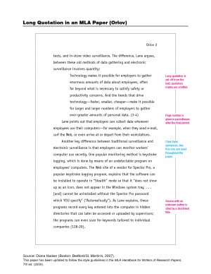 quotes in essays page numbers