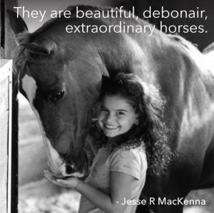 They are beautiful, debonair, extraordinary horses.