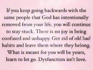 Dysfunction isn't love.