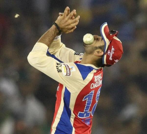 Virat Kohli fielding in IPL for RCB in a match against Kings XI Punjab ...