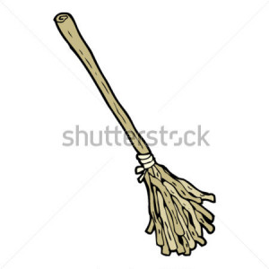 Cartoon Witches Broom