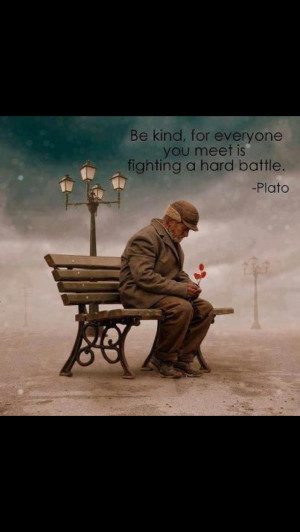 Mean people need kindness most.