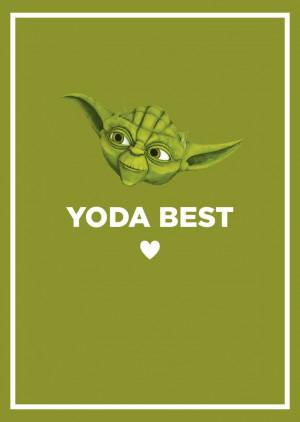 Yoda best - Valentines day card