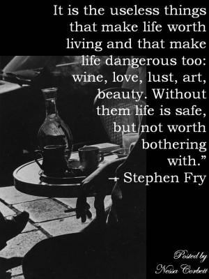 Stephen Fry. Wine, Love, Lust & Art..