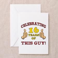 Funny 16th Birthday For Boys Greeting Card for