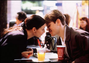 Damon with costar Minnie Driver in 'Good WIll Hunting.' Damon's ...