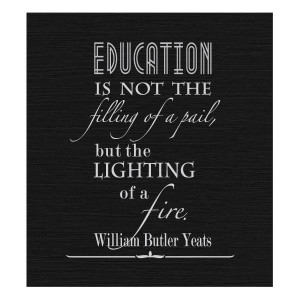 Back to School Basics #education #Yeats #quotes
