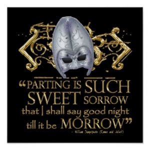 Romeo & Juliet Quote (Gold Version) Print