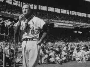 Major League Baseball Player, Stan Musial, Announcing His Retirement ...