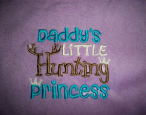 Purple Baby Girl Daddy's Little Hunting Princess Purple with Blue ...