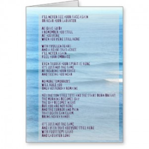 Sympathy and Grief Poem- Hawaii Sea Card card