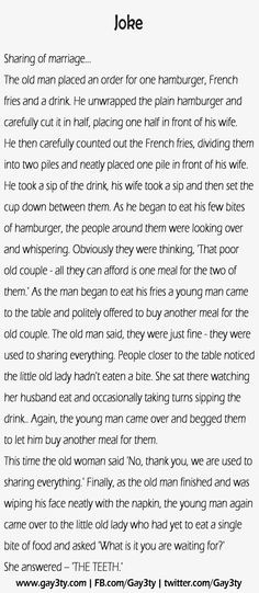 Sharing of marriage – Funny Joke... this would be an excellent ...