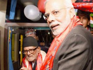 PM Narendra Modi Sushil Koirala flag off Kathmandu Delhi bus service