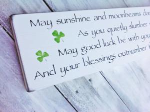 Irish Proverb, Nursery Decor, Irish Wedding