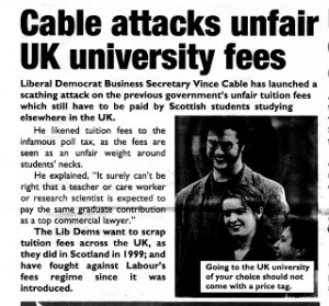 Red Rag - More Vince Cable confusion as he likens tuition fees to the ...