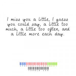 Miss You Quotes I Miss You A Little I Guess You Could Saylarge