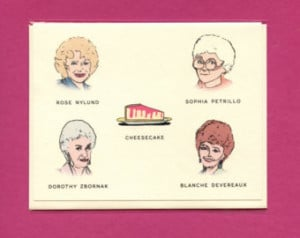 THE GOLDEN GIRLS A Field Guide - F unny Golden Girls Greeting Card ...