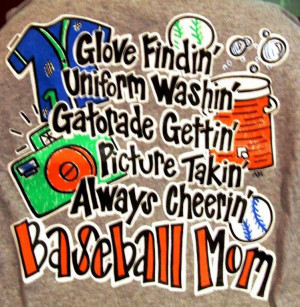 Baseball Mom Life in Pictures