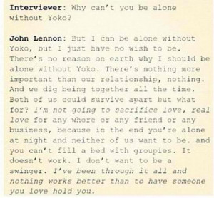 John Lennon Yoko Ono Love Quotes