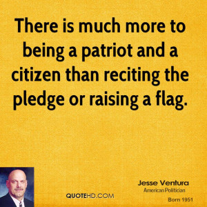 There is much more to being a patriot and a citizen than reciting the ...