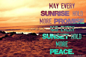... - Quote Print - Beach Sunset Photography Print - Beach Sunrise