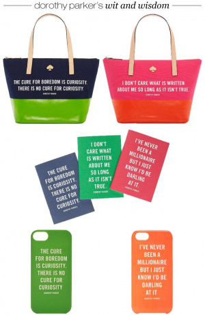 wit and wisdom from Kate Spade