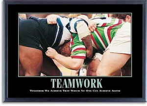 Motivational Framed Posters : Rugby Scrum Poster