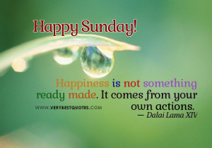 sunday good morning quotes on happiness