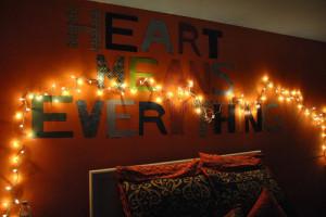 lights, lyrics, music, room