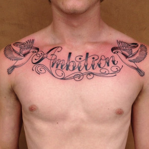 Chest Tattoos For Men Bible Quotes picture