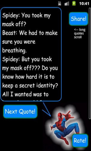 Spider Man Sayings http://android.androidsoftware.us/Applications ...