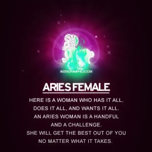 Aries Characteristics Female Aries female